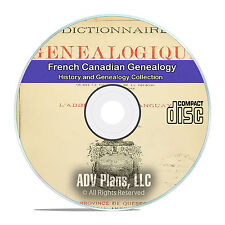 French Canadian Family History and Genealogy 10 Vintage French Books on CD V90