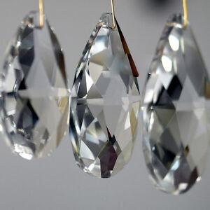 10/50X Clear Glass Crystal Prisms Chandelier Droplet Pendant Light Drop Decor