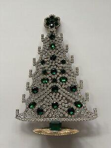 Large Czech Rhinestone Christmas Tree