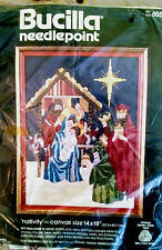 Bucilla-Needlepoint Kit Nativity Christmas-60584 Baby Jesus,Mary,Joseph,Wisemen