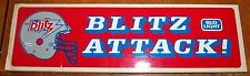 decals / stickers Football Blitz Attack Bud Light logo  1970's -80's