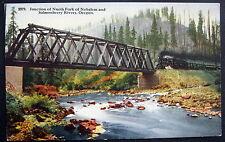 ** Junction of North Fork of NEHALEM & SALMONBERRY RIVERS OREGON~ TRAIN ~Tressle