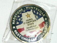 CHALLENGE COIN REDSTONE ARSENAL AUSA BEST HUNTSVILLE CHAPTER 2004 US ARMY