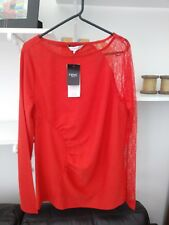 Ladies Very Trendy BNWT Red Lace Top by Next Size 12