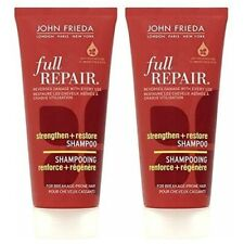 JOHN FRIEDA Full Repair Strengthen & Restore Shampoo, 2x 50ml, Travel Size Tubes