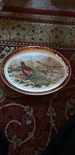 Lightwood Sons Birmingham Oval Plate Pheasant Collectors Dinner Plates