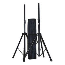 Ibiza Sound SS01B Speaker Stand Pair inc Carry Bag DJ Disco PA