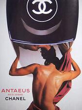 PUBLICITÉ DE PRESSE 1986 ANTAEUS POUR HOMME DE CHANEL - ADVERTISING