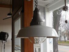 Vintage Barn Light Industrial BENJAMIN porcelain shade Explosion Proof PENDANT