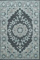 Geometric Modern Moroccan Oriental Area Rug Hand-knotted Wool Carpet 4'x6' Foyer