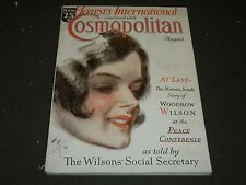 1930 AUGUST COSMOPOLITAN MAGAZINE - HARRISON FISHER COVER - GREAT ADS - ST 205