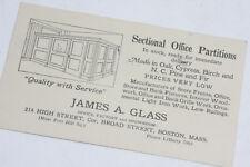 1927 Lamson Goodnow James Glass Office Partitions Boston 1cPostcar Ephemera L29C
