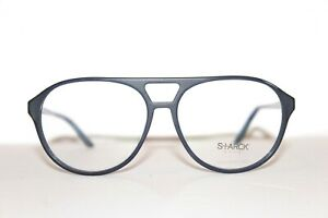 NEW STARCK EYES SH3028 0007 BLUE BLACK AUTHENTIC EYEGLASSES 57-14-145 MM ITALY
