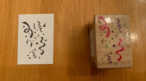 All Night Media Confetti Cluster Rubber Stamp Vintage 1992 Celebration New Year