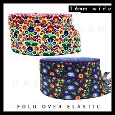 "Japanese Floral /& Wave Fold Over Elastic FOE 5//8/"" 16mm per metre volume discount"