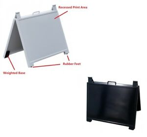 630x580mm ABS Portable Real Estate Plastic Aframe Aboard Footpath No Graphics