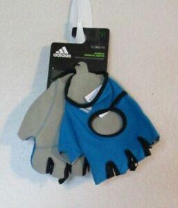 NWT Adidas Womens ClimaLite Essential Fitness Training Gloves L Patrol Blue