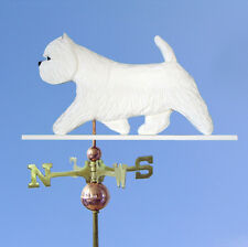West Highland Terrier Hand Carved Hand Painted Basswood Dog Weathervane