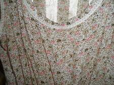 Cute Ladies Summer Fun PINK Rose Tan White DRESS Hippie Gypsy SHORT Sleeveless