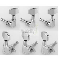 Musiclily 3L3R Chrome Sealed Tuning Pegs Machine Heads Set For Epiphone Guitar