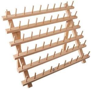 June Tailor Wood Mini-Mega Rack II 60 Spool w/Leg WooDminiMegaRakII60SpoolswLegs