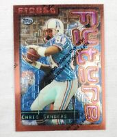 1996 Topps Finest #136 Chris Sanders Houston Oilers Tennessee Titans Card