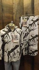 New Vtg Mossy Oak Tree Stand Camo White Snow Camouflage Pants Jacket sz Medium