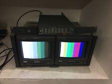 "Sony PVM-8220 & PVM-8020  Dual 8"" Monitors + Rack Mount Sony MB-520"