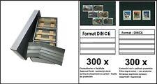 Lindner S4801B Archivbox PRESTO C6 600 Einsteckkarten MIX 3+4 Streifen + Folie