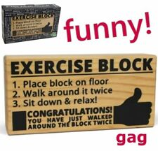 exercise diet block walk around weight loss fitness gag prank big mouth toys