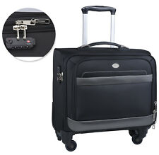 2a850a572455 Rolling Laptop Bag Briefcase Wheeled Case Laptop Travel Luggage Carry  Suitcase