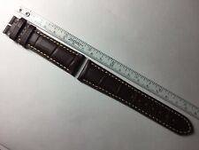 AUTHENTIC LONGINES NEW 21MM BROWN GENUINE ALLIGATOR LEATHER STRAP BAND BRACELET