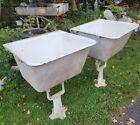 (2) 1900's  Large Porcelain Cast Iron Vintage Farmhouse Antique Farm Sink tub!
