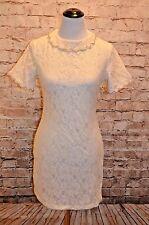 Modcloth Matinee Matrimony Dress NWT M Peter Pan collar Beaded Ivory lace