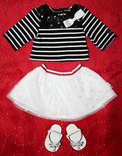 American Girl GRACE SIGHTSEEING OUTFIT White, Black & Red + T strap Sandals
