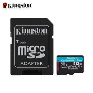 NEW Kingston Canvas Go! Plus 512GB UHS-I U3 V30 microSDXC Memory Card SDCG3