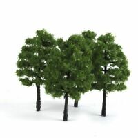 20pcs Model Pine Trees Deep Green Pines For HO O N Z Scale Model Railroad Layout
