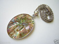 Abalone Perlmutt Anhänger mt Kette Gesamtgewicht: 11,1 g / Länge: 50,5 cm