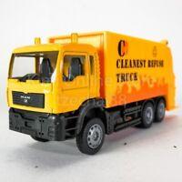 DSM 1:64 Die-Cast MAN Garbage Truck Orange Color Model Collection New Gift