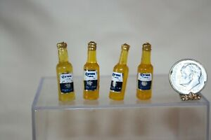 Miniature Dollhouse Four Bottles of Corona Beer 1:12 NR