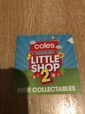 Coles Little Shop 2 Mini collectables Checklist Sheet