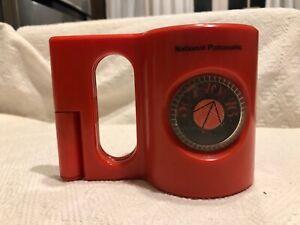 """Vintage 1971 Mid Century ORANGE Panasonic R-63 """"The Mug """"AM Radio Excel"""