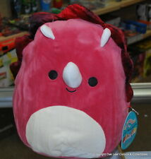 """Tristan the Red Triceratop 12"""" 12 Inch Squishmallow New With Tags! CUTE!"""