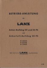 Betriebsanleitung CD-Rom für 4,7L GK 20PS Lanz Acker Bulldog D3500 Traktor