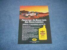 1986 Pennzoil Motor Oil Vintage Ad with Walker Evans Baja Dodge Truck