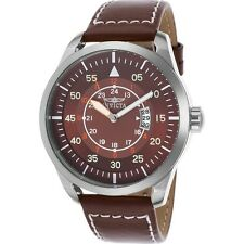 New Mens Invicta 19259 I-Force Analog Brown Leather Strap Watch