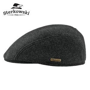 Sterkowski FROSTY IKE Melton Wool Flat Cap Earflap Warm Newsboy Gatsby Cabbie