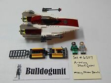 Lego Star Wars A-Wing Fighter Set 6207 No Stickers No Instructions No Box 2006