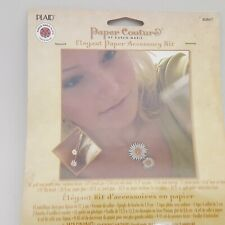 Paper Couture's Elegant Paper Jewelry Accessories Kit Flower Design