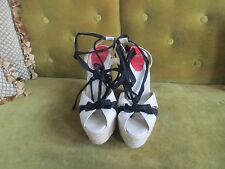 CHRISTIAN LOUBOUTIN PARIS WEDGE STRAPPY SANDALS SIZE 38